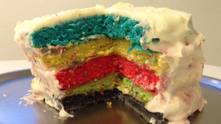 Olympic Ring Cake