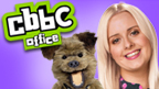 Katie and Hacker next to the CBBC logo.