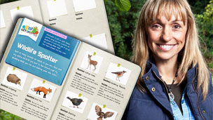 Wildlife spotter and Michaela Strachan