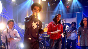 The Hip Hop Shakespeare Company in the Blue Peter Studio