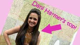 Amy-Leigh's wearing Dani Harmer's top.