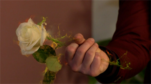 Tom conjures up a magic rose for Chloe