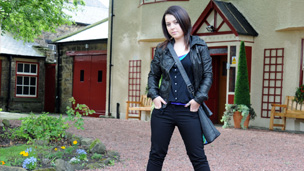 Dani Harmer as Tracy outside the Dumping Ground.