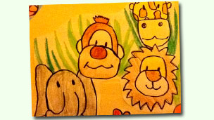 Drawing of safari animals