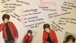 Images of Danny on a piece of paper.
