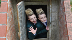 Jedward in a bunker.