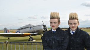 Jedward with a plane.