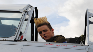 Jedward in a plane.