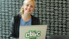 Katie Thistleton in the CBBC Office