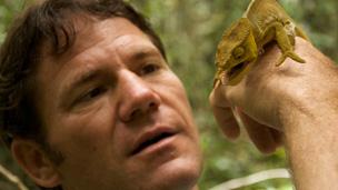 Steve with a Lizard.
