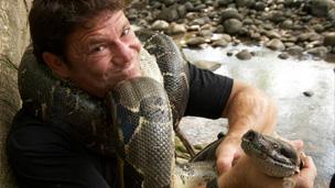 Steve with a snake.