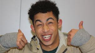 Jordan pulling a funny face.