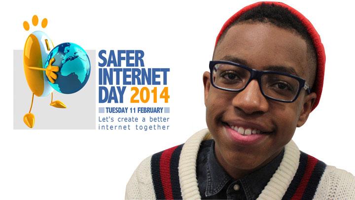 Khalil Madovi with the safer internet day logo.