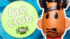 The CBBC fan club badge next to Mitchell