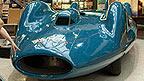 A blue vintage car