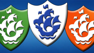A Blue Peter badge.
