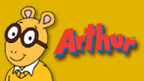 Arthur and Pal with the Arthur logo.