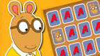 Arthur, the Arthur Pairs Game logo and D.W.