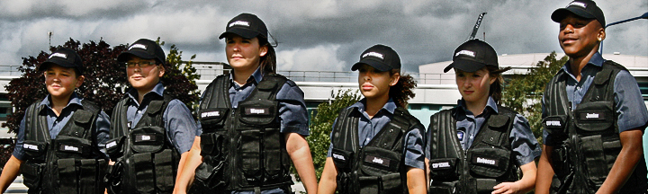 A line Cop School Cadets