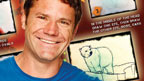 Steve Backshall and a sketch of a Polar Bear.