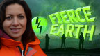 A fierce earth presenter and the logo.