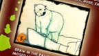A sketch of a polar bear.