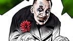 Half coloured drawing of Nightmare Man.