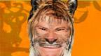 Steve Backshall and a Cheetah.