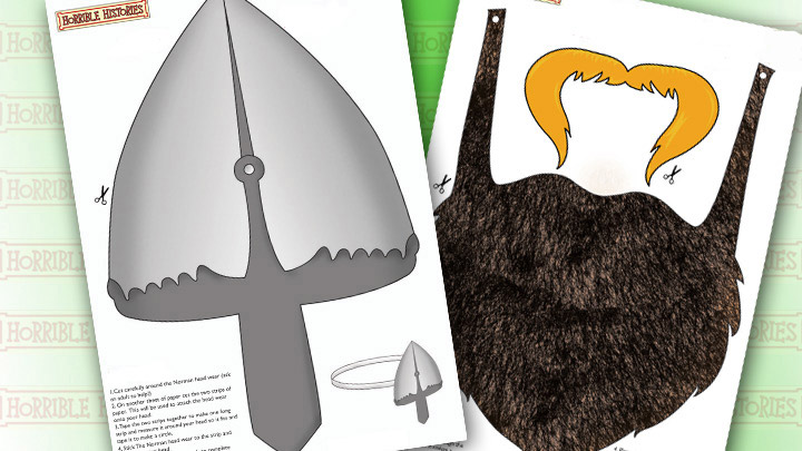The Norman Headwear and beard print outs.