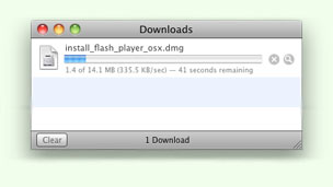 A screenshot of the Mac OS download manager in Safari.