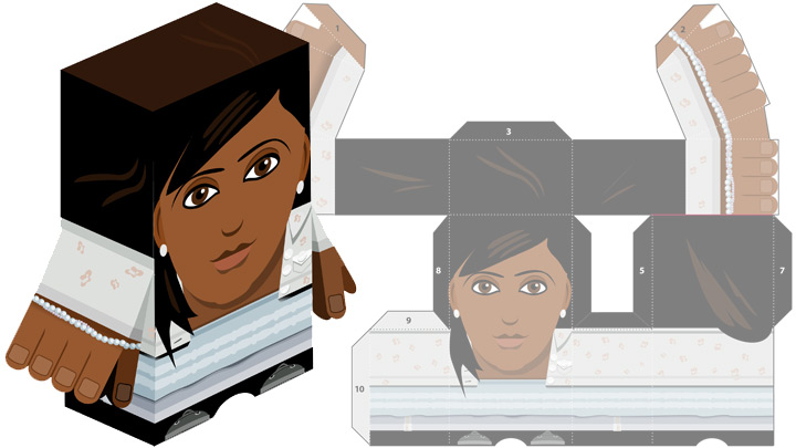 Paper toy of Rani.