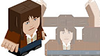 Paper toy of Sarah Jane.
