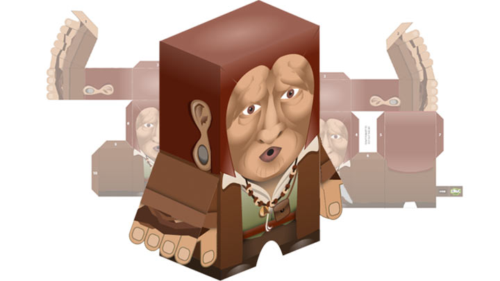 Paper toy of the Trapped Caretaker.