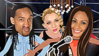 Alesha, Lizzie and Turbo from Alesha's Street Dance Stars in the Music Video Maker game.