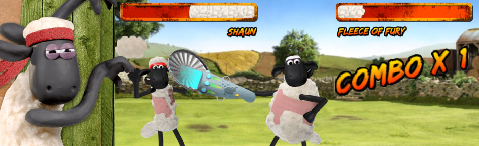 Shaun and the Super Sheep Shearer game.
