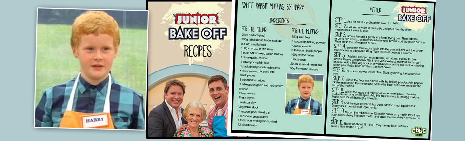 Junior Bake Off Recipe.