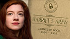 Harriet and her identity book.