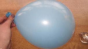 A blown up balloon