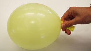Blown up balloon