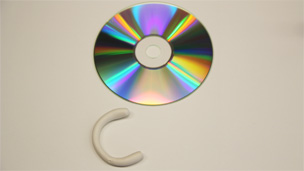 Sticky tack and CD
