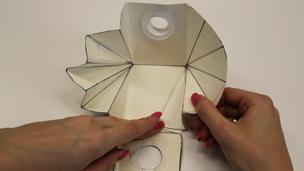 Start folding the sides