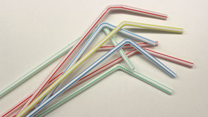 Straws with the bendy necks extended
