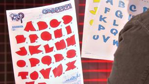 The alphabet template
