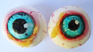 The finished eye treats.