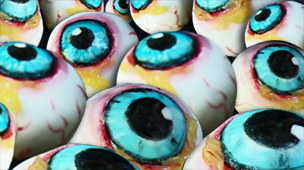 gruesome edible eyeballs.