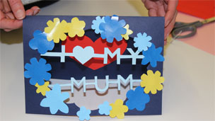 The finished Mother's Day card