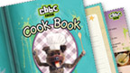Close up of the cover of the CBBC Cook Book.