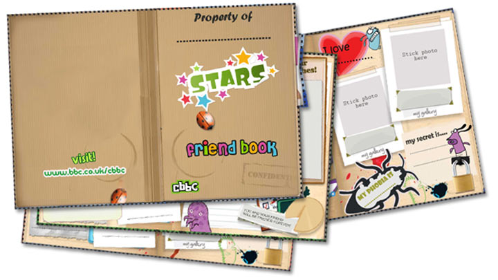 Front cover of the CBBC Stars Friends Book.