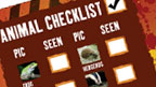 Animal check list from Deadly Diary pack.