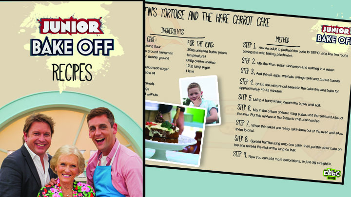 Junior Bake Off Recipe Book Cover and Griffin's Recipe